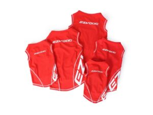 Red EzyDog Rashie high viz vest with 50+ UV sun protection