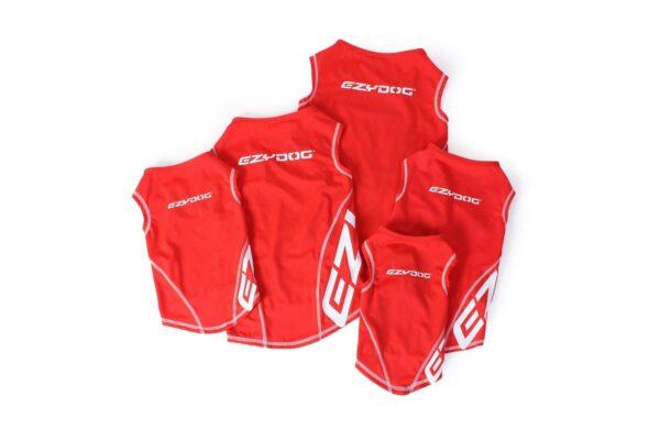 Red EzyDog Rashie high viz vest with 50+ UV sun protection