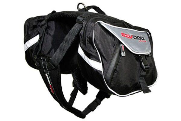 Black and grey EzyDog summit backpack