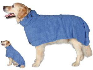 Trixie Dog Bathrobe with 2 dogs
