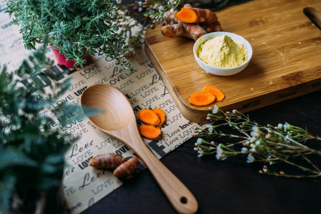 Making a golden turmeric paste for dogs