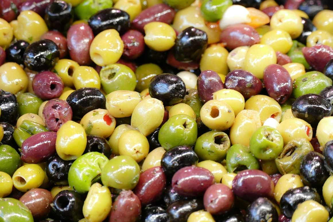 olives.Black and green